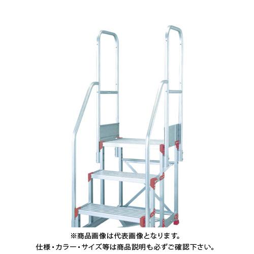 【運賃見積り】【直送品】ピカ 作業台用手すりZG-TE型 階段両手すり天場二方 5段用 ZG-TE30A11H