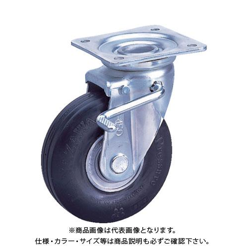 カナツー ゼロプレッシャータイヤ 自在金具付 荷重112.7  ZP-O 8X2.00HS-BK