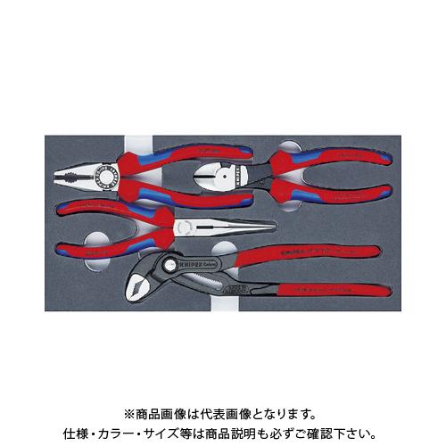 【6月5日限定!Wエントリーでポイント14倍!】KNIPEX 002001V15 プライヤーセット ウレタントレイ入り 002001V15