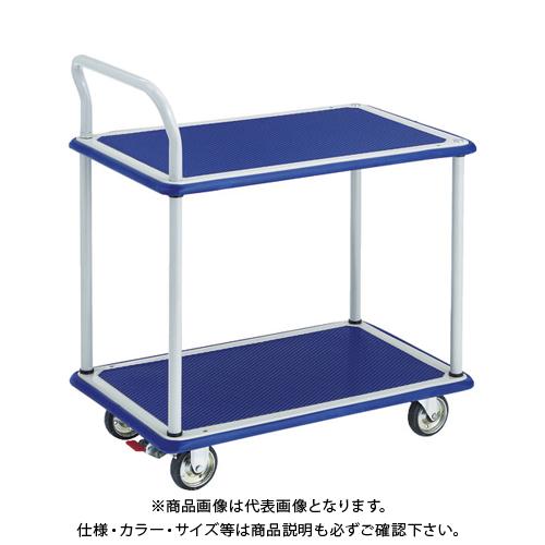 【運賃見積り】【直送品】TRUSCO ドンキーカート 2段式片袖タイプ740×480 S付 104NS