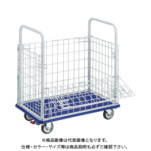 【運賃見積り】【直送品】TRUSCO ドンキーカート 金網付 740×480 S付 107NS