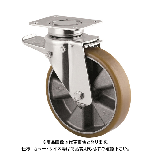 テンテキャスター 重荷重用高性能旋回キャスター(ウレタン車輪・メンテナンスフリー) 3642ITP200P63 CONVEX