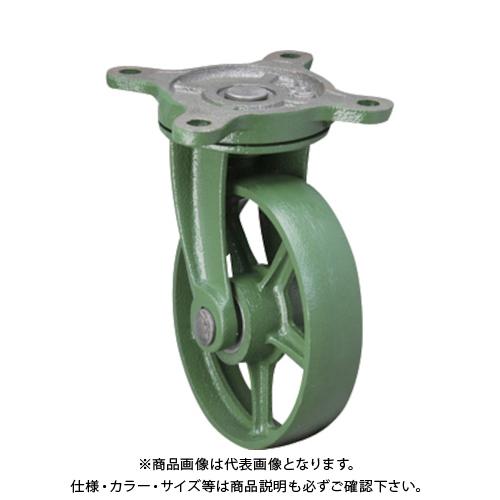【6月5日限定!Wエントリーでポイント14倍!】【運賃見積り】【直送品】東北車輛製造所 標準型自在金具付鉄車輪 300BRFB