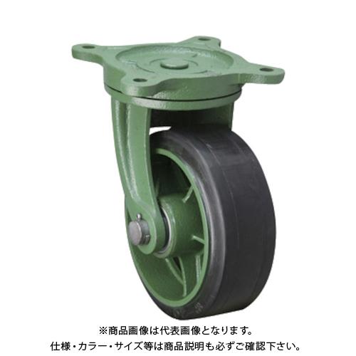 【運賃見積り】【直送品】東北車輛製造所 幅広型自在金具付ゴム車輪 300X100TBRB