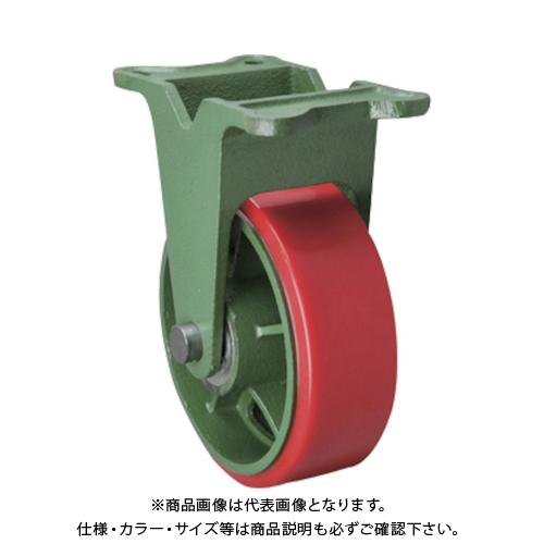 【運賃見積り】【直送品】東北車輛製造所 幅広型固定金具付ウレタン車輪 300X90TKULB