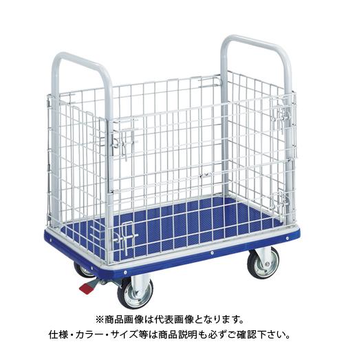 【運賃見積り】【直送品】TRUSCO ドンキーカート 金網付 810×510 S付 207NS