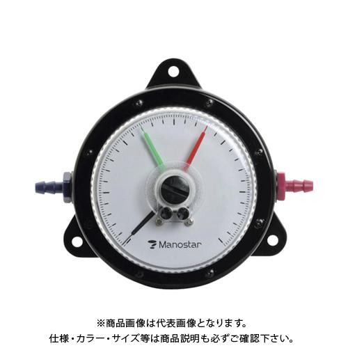 【個別送料2000円】 【直送品】 マノスター 微差圧計 マノスターゲージ 表面形・置針2本付 WO81FT10E