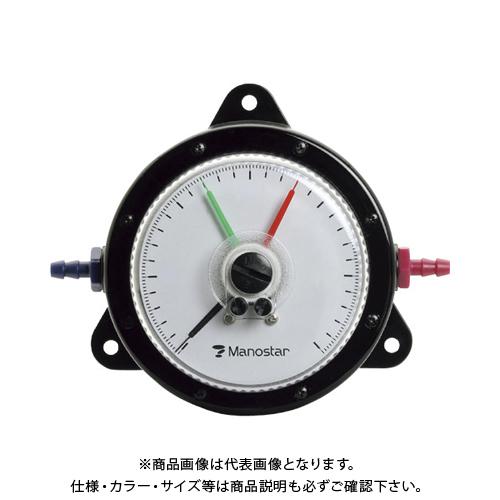 【個別送料2000円】 【直送品】 マノスター 微差圧計 マノスターゲージ 表面形・置針2本付 WO81FT1000D