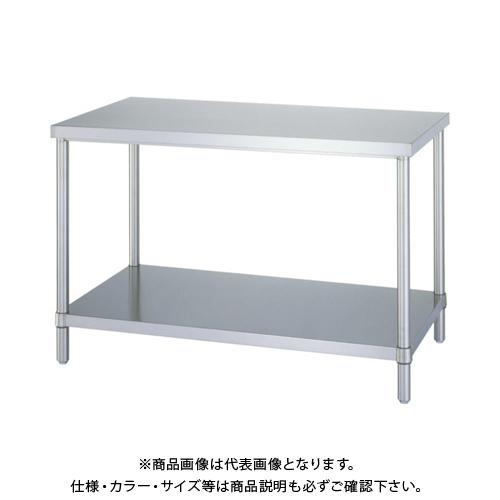 【運賃見積り】 【直送品】 シンコー ステンレス作業台ベタ棚 WB-7560