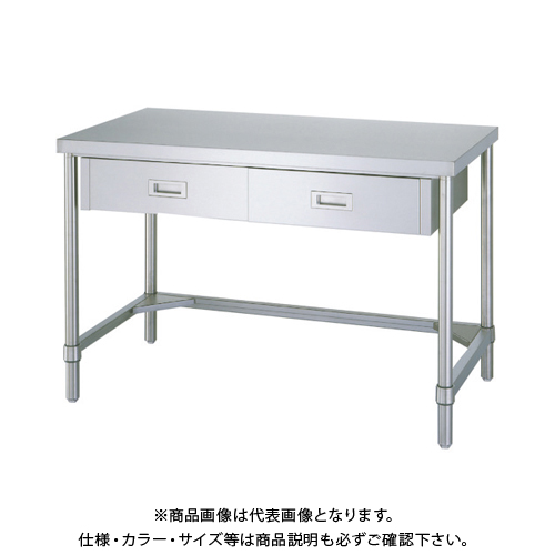 【運賃見積り】 【直送品】 シンコー ステンレス作業台片面引出付三方枠 WDT-9060