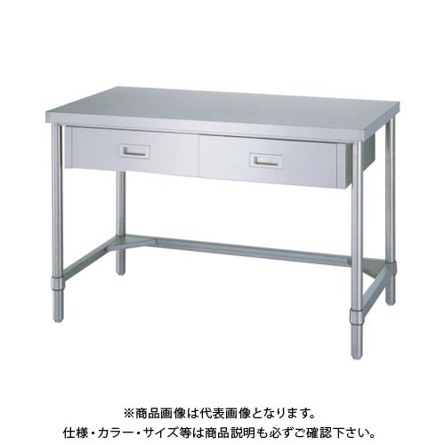 【運賃見積り】 【直送品】 シンコー ステンレス作業台片面引出付三方枠 WDT-9075
