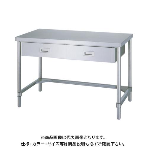 【運賃見積り】 【直送品】 シンコー ステンレス作業台片面引出付三方枠 WDT-15090