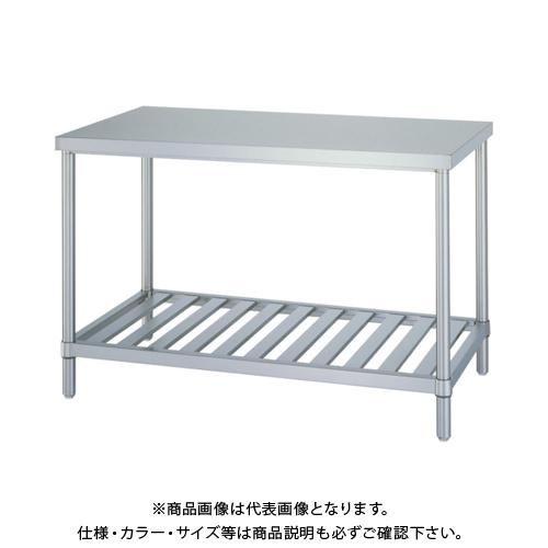 【運賃見積り】 【直送品】 シンコー ステンレス作業台スノコ棚 WSN-15075