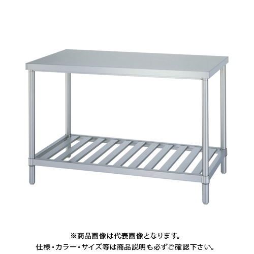 【運賃見積り】 【直送品】 シンコー ステンレス作業台スノコ棚 WSN-18060