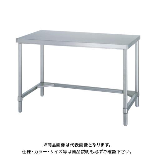 【運賃見積り】 【直送品】 シンコー ステンレス作業台三方枠 WTN-12075
