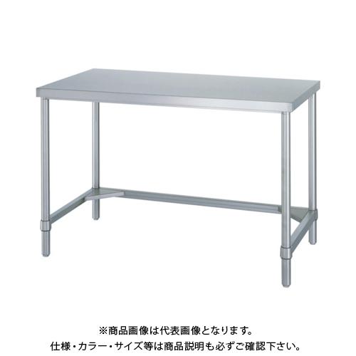 【運賃見積り】 【直送品】 シンコー ステンレス作業台三方枠 WTN-12090