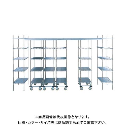 【運賃見積り】 【直送品】 エレクター トップトラックベーシック スーパーエレクターシェルフ 4316×1220×2200 棚板LS1220 移動ユニット数3 TT40SELS122U3D4