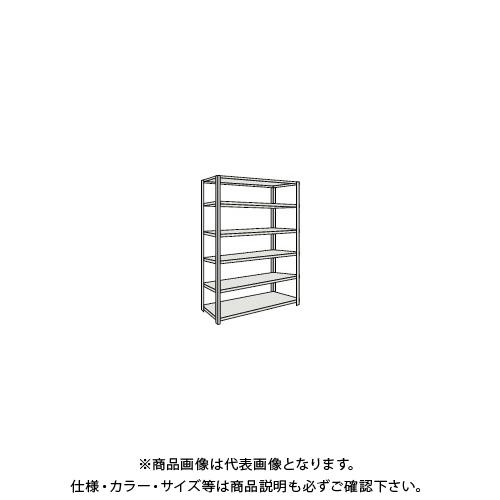 【運賃見積り】 【直送品】 TRUSCO 軽量150型開放棚 W1200XD450XH2400 6段 TLA84S-16