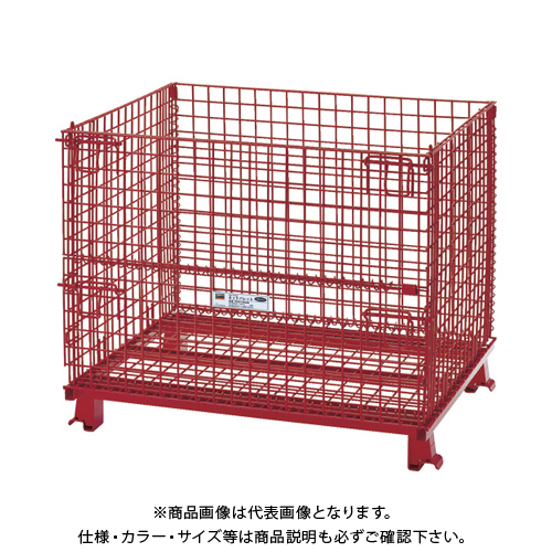 【運賃見積り】 【直送品】 TRUSCO ネットパレット 1000X800X850 粉体塗装 赤 T0810R