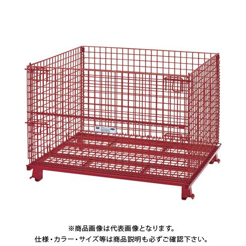 【運賃見積り】 【直送品】 TRUSCO ネットパレット 1200X1000X890 粉体塗装 赤 T1012AR