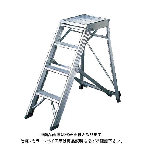 【運賃見積り】【直送品】TRUSCO 折りたたみ式作業用踏み台 高さ1.20m TDAD-120