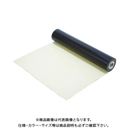 TRUSCO 導電性ゴムマット(テーブル用)アイボリー1000mmX10mx2mm TCRM-100