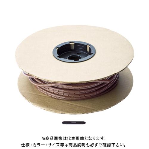 【12/5限定 ストアポイント5倍】パンドウイット スパイラルラッピング ポリエチレン 茶 T50F-C1