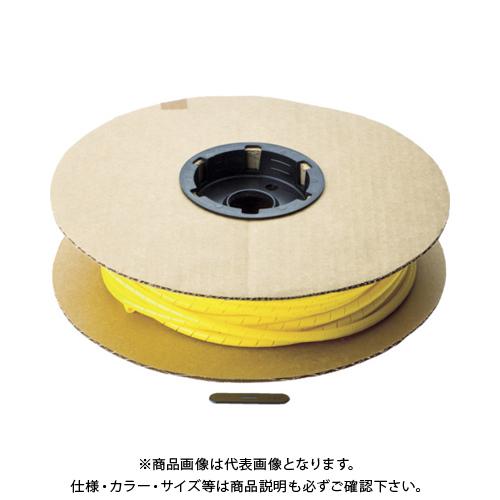 【12/5限定 ストアポイント5倍】パンドウイット スパイラルラッピング ポリエチレン 黄 T50F-C4Y