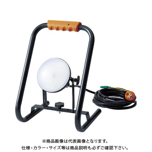 TRUSCO LED投光器 DELKURO スタンドタイプ 20W 5m アース付 2芯3芯両用タイプ RTLE-205EP-S