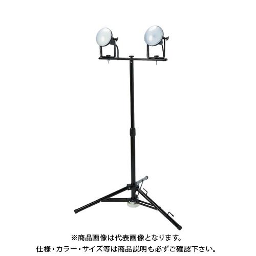 【運賃見積り】【直送品】TRUSCO LED投光器 DELKURO 三脚タイプ 2灯 20W 5m アース付 2芯3芯両用タイプ RTLE-205EP-SK2