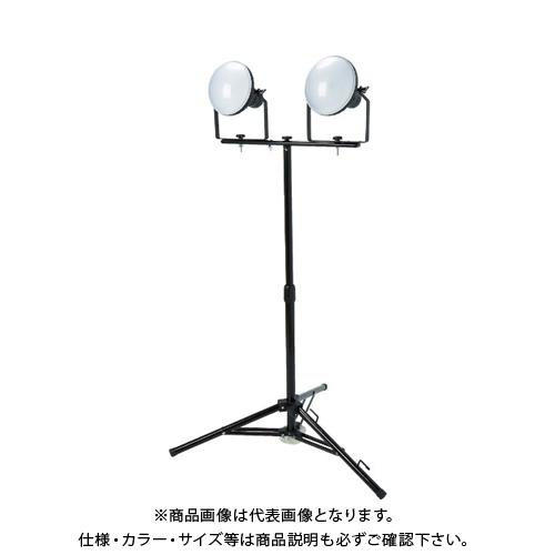 【運賃見積り】【直送品】TRUSCO LED投光器 DELKURO 三脚タイプ 2灯 50W 10m アース付 2芯3芯両用タイプ RTLE-510EP-SK2