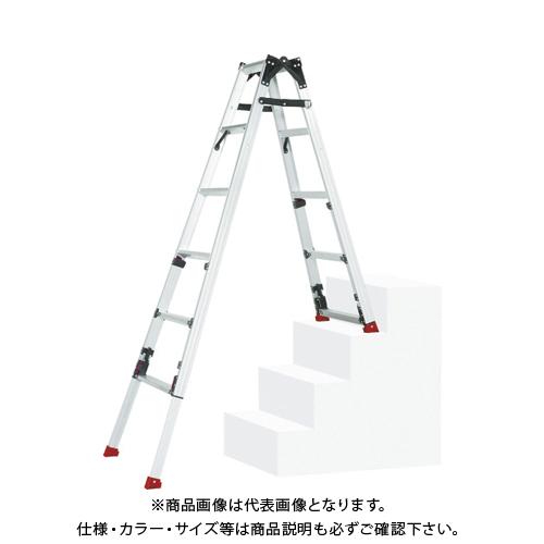 【運賃見積り】【直送品】ピカ 四脚アジャスト式脚立スーパーかるノビSCN型階段用 SCN-45