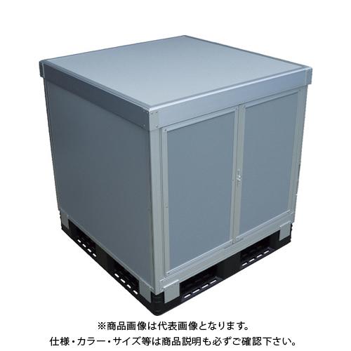 【運賃見積り】 【直送品】 TRUSCO スタックカーゴ1面観音扉・3面パネルタイプ 1100X1100XH400 SCP3T1-1140