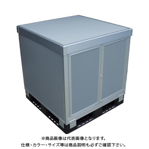 【運賃見積り】 【直送品】 TRUSCO スタックカーゴ1面観音扉・3面パネルタイプ 1100X1100XH800 SCP3T1-1180
