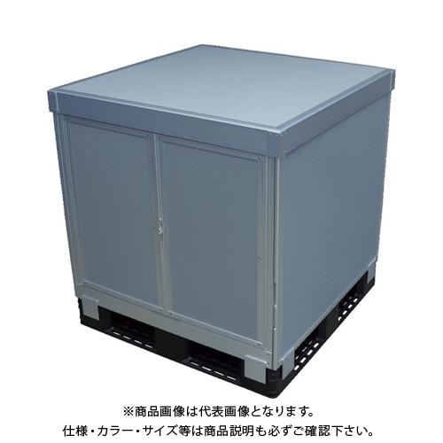 【運賃見積り】 【直送品】 TRUSCO スタックカーゴ2面観音扉・2面パネルタイプ 1100X1100XH800 SCP2T2-1180