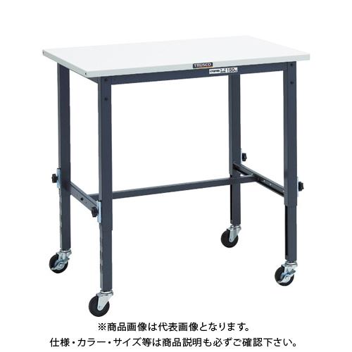 【運賃見積り】 【直送品】 TRUSCO SAEM型高さ調節作業台 900X600 75φ車輪付 DG色 SAEM-0960C75 DG