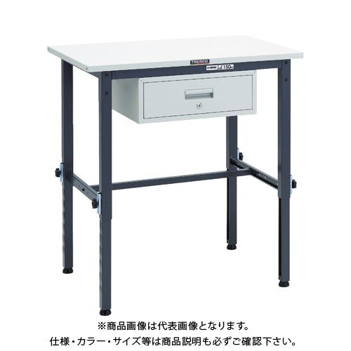 【運賃見積り】 【直送品】 TRUSCO SAEM型高さ調整作業台 900X600 1段引出付 DG色 SAEM-0960F1 DG