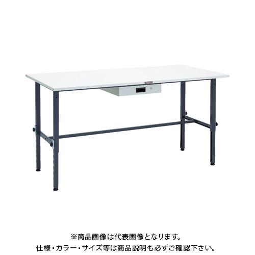 【運賃見積り】 【直送品】 TRUSCO SAEM型高さ調整作業台 1800X900 薄型1段引出付 DG色 SAEM-1809UDK1 DG