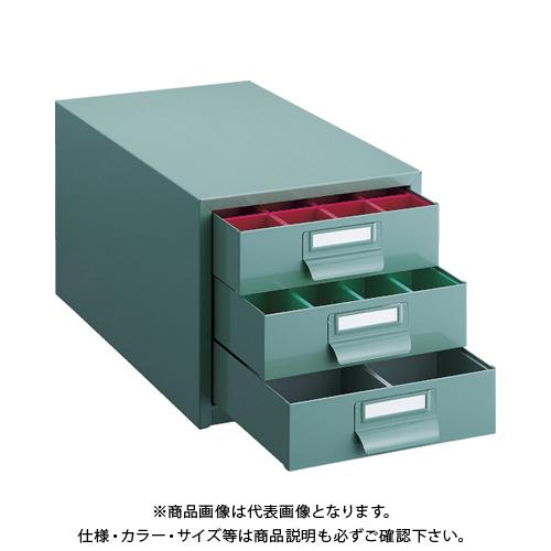 TRUSCO ツールケース 233X410XH222 引出3段 プラボックス付 PT-36CN