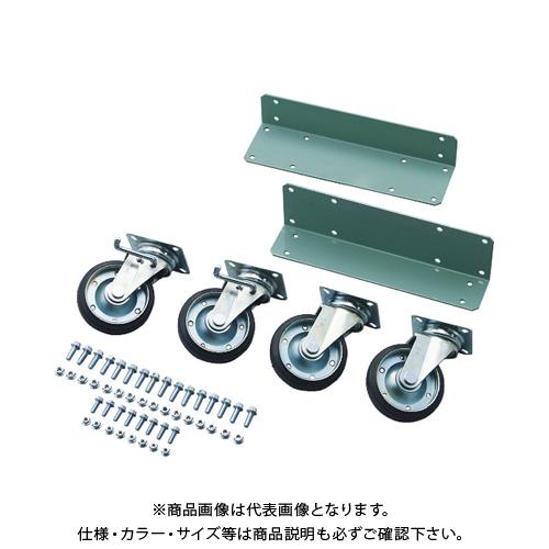 【個別送料2000円】 【直送品】 TRUSCO R3型用キャスターベースセット D450 Φ150ゴムキャスター R3-CB450-G150
