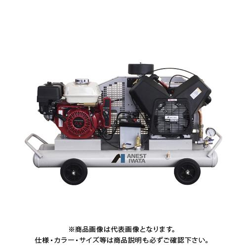 【直送品】アネスト岩田 軽便形コンプレッサ 3.7KW エンジン駆動 PLUE37C-10