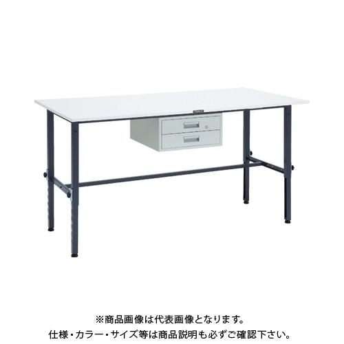 【運賃見積り】 【直送品】 TRUSCO RAEM型高さ調節作業台 1800X900 2段引出付 DG色 RAEM-1809F2 DG