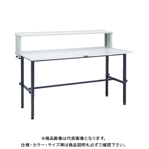 【運賃見積り】 【直送品】 TRUSCO RAEM型高さ調節作業台 1800X900 上棚付 DG色 RAEM-1809YURB DG