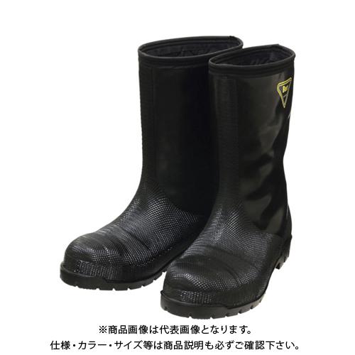 SHIBATA 冷蔵庫用長靴-40℃ NR041 26.0 ブラック NR041-26.0