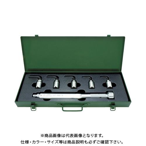【運賃見積り】 【直送品】 ASH トルクレンチ六角棒スパナヘッドセット LC090N+5-12mm LCX3000