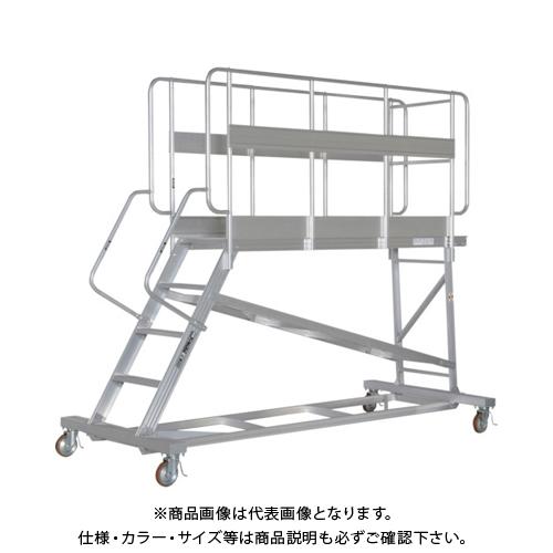 【運賃見積り】【直送品】ピカ 連結式大型作業台 手すりフルセット DXL-TE90AC