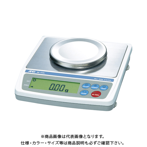 【直送品】A&D パーソナル天びん EK410i JCSS校正付 EK410I-JA-00J00