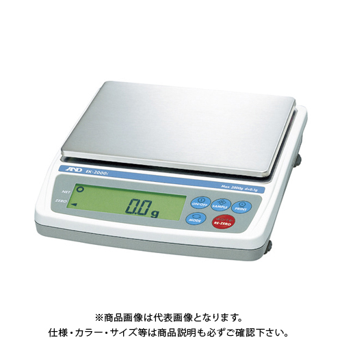 【直送品】A&D パーソナル天びん EK2000i JCSS校正付 EK2000I-JA-00J00