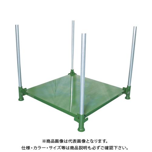 【運賃見積り】 【直送品】 TRUSCO 段積みパレット スチール板張 1000kg 1100角 単管付 DPL10-1111T
