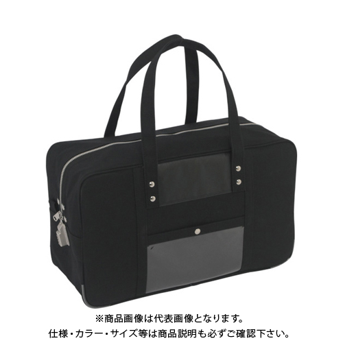 SANEI 帆布メール用ボストン(L)SED-1錠付 黒 BTL-SED-01